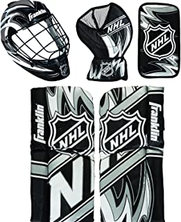 Franklin Sports Mini Hockey Goalie Pads - Youth Knee and Mini Hockey Goalie Gear and Equipment - Mini Hockey Goalie Set
