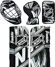 Franklin Sports Mini Hockey Goalie Pads - Youth Knee and Mini Hockey Goalie Gear and Equipment - Mini Hockey Goalie Set