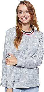 Tommy Hilfiger Women's Essential C-Neck Long Sleeve Sweatshirt, Grey