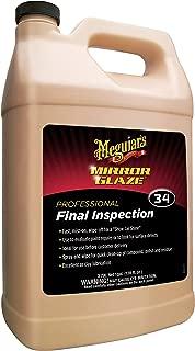 Meguiar's M34 Mirror Glaze Final Inspection – Professional Spray Detailer for Final Touch – M3401, 1 gal