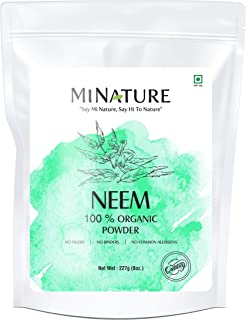Natural Neem Powder (Azardirachta Indica) 227 Gram (0.5 lb) Non GMO Supplements for Glowing Skin, Hair, Nails, Supports Di...