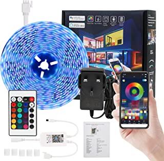 ANEAR LED Strip Lights, 16.4ft DIY RGB Colour Rope Light Strip Kit with Remote and Timing Off, Dream Colour for TV, Room, ...