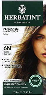 Herbatint Permanent Haircolor Gel, 6N Dark Blonde, 4.56 Ounce