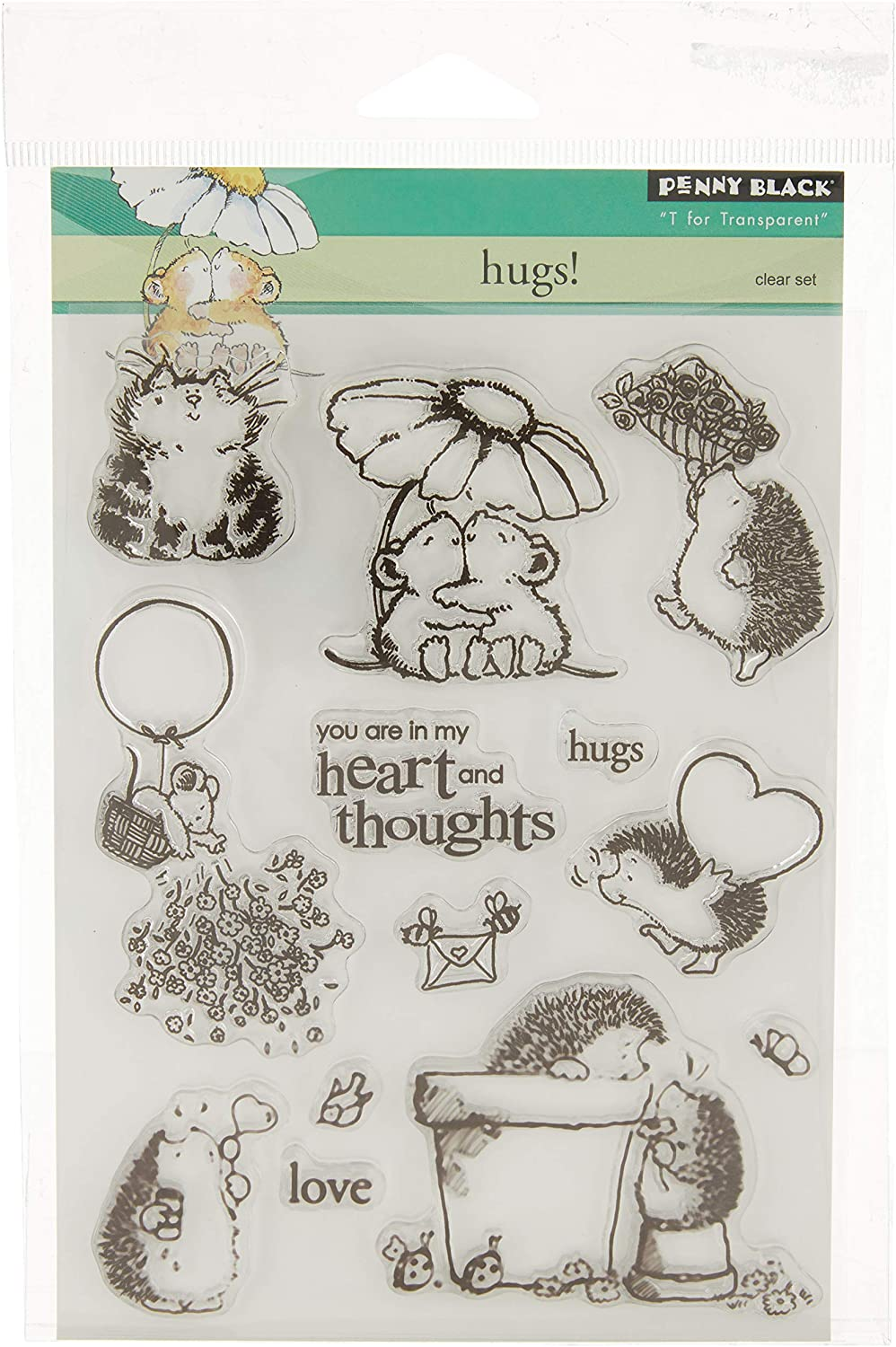 Penny Challenge the lowest Courier shipping free shipping price Black PB30020 Clear Hugs Set Stamp