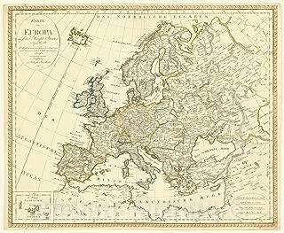 Historic Pictoric Map : Europe 1817, Karte von Europa in Seine Haupt Staaten eingetheilt Nach Allen neuesten Grenzberichtigungen und astronomischen Ortsbestimmungen entworfen : 54in x 44in