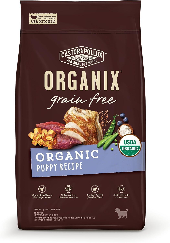 Castor & Pollux Organix Grain Free Organic Puppy Recipe Dry Dog Food 10lb