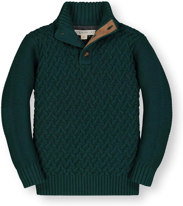 Hope /& Henry Boys Long Sleeve Mock Neck Sweater
