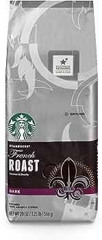 Starbucks French Roast Dark Ground Coffee 20-Ounce Bag