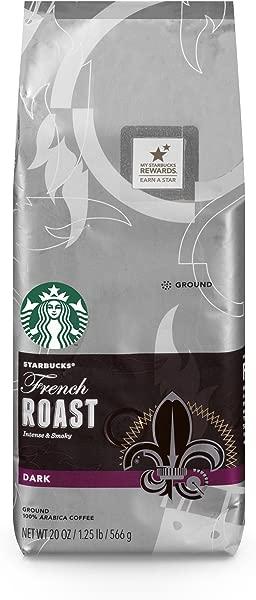 Starbucks French Roast Dark Roast Ground Coffee 20 Ounce Bag