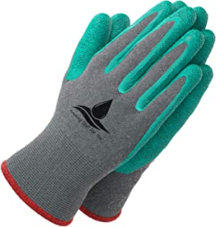 Garden Gloves for Women and Men - (2 pairs per package) - Super Grippy with Special Protective coating against cuts for Gardening - Fishing - Auto and Work activities S,M,L Sizes (Medium, Green)