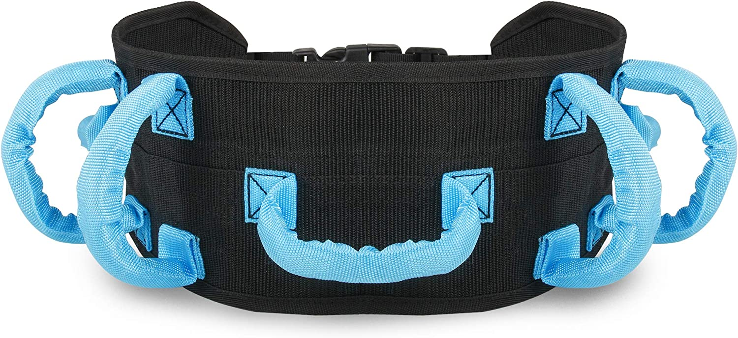 REAQER Transfer and Walking Gait Belt with 7 Handles for Patient Care(Adjustable Waist Circumference:31