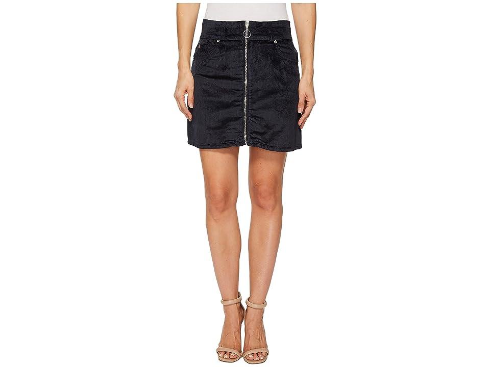 7 For All Mankind Zip Front Mini Skirt in Navy (Navy) Women
