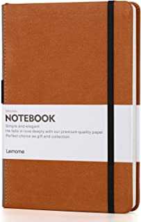 Grid Paper Notebook - Lemome Hardcover Classic Notebook with Pen Holder - Thick Premium Paper + Page Dividers Gifts 8.4 x 5.7 in