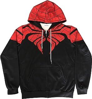 Gurbanton Spiderman Hoodie Unisex Adult Superhero Costume Sweatshirt with Zipper for Halloween Holiday Cosplay