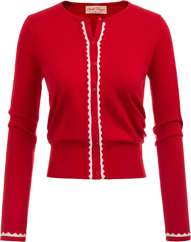 Women Button Knit Cardigan Contrast Color Long half Lowest price challenge Shrug BP77 Sleeve