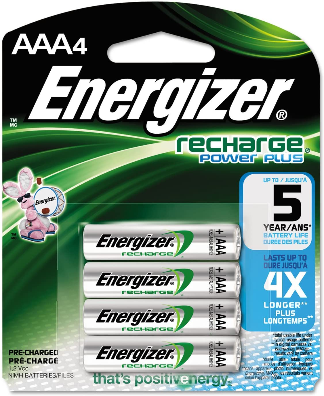 Energizer NiMH Rechargeable Batteries AAA safety Spasm price Pack 4