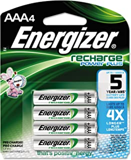 Energizer Energizer NiMH Rechargeable Batteries, AAA, 4 Batteries/Pack