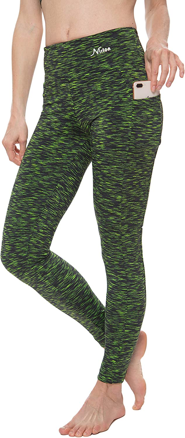 Nirlon Women's Leggings with Pockets Waisted Free shipping anywhere in the nation Courier shipping free Yoga P High Workout