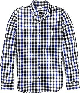 Men's Long Sleeve Checkered Button Down Flannel Shirt
