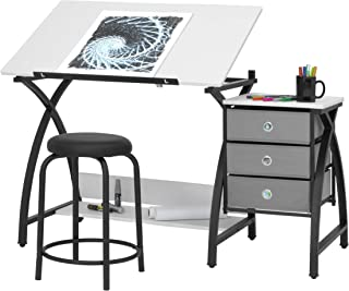 (black) - Studio Designs - Comet Centre Craft Desk - Black/white