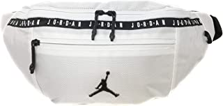 Nike Air Jordan Over sized Taping Crossbody Bag (One Size, White)