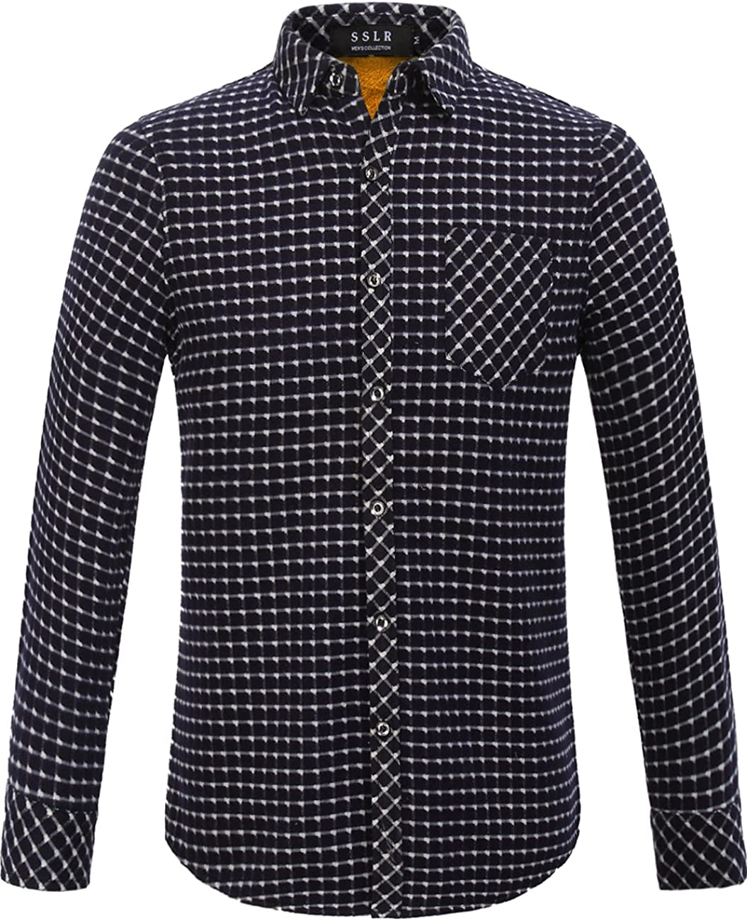SSLR Mens Fleece Shirt Jacket Button Flannel Plaid Complete Max 88% OFF Free Shipping fo Jackets Up