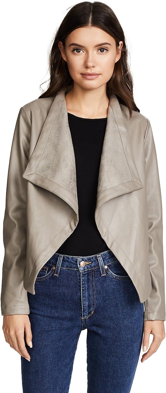 BB Dakota Women's Peppin Vegan Leather Drapey Jacket