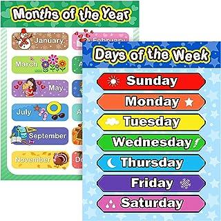 Extra Large Preschool Educational Learning Posters for Kids Toddlers, Nursery Homeschool Pre-K Kindergarten Classroom Deco...