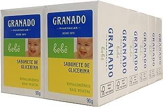 Linha Bebe Granado - Sabonete em Barra de Glicerina Tradicional (12 x 90 Gr) - (Granado Baby Collection - Classic Glycerin Bar Soap Net (12 x 3.2 Oz))