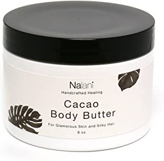 Cacao Shea Body Butter Cream Organic Skin + Hair Care: All-Natural Healthy & Nourishing Anti-Aging Face Moisturizer For Men & Women. Reduces Scar, Stretch Mark, Wrinkle & Sun Spots. USA Made, 8 Ounce