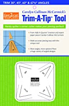 Fast2Cut Carolyn McCormick's Trim-A-Tip Tool: Handy Quilter's Corner Cutter Makes Your Piecing Perfect!