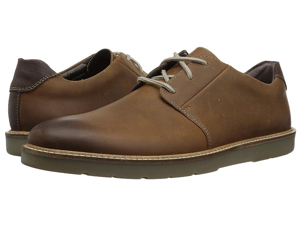 Clarks Grandin Plain (Dark Tan Leather) Men