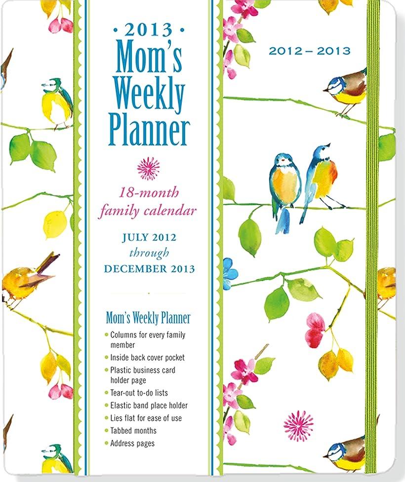 リーク無礼に圧縮されたWatercolor Birds Mom's Weekly Planner 2013: 18-month family calendar, July 2012 through December 2013: Watercolor Birds