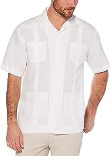 Men's Short Sleeve Traditional Cuban Camp Guayabera Shirt
