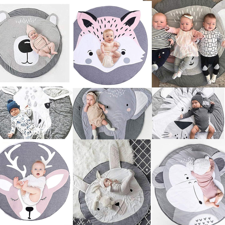 Spielmatte Baby Geruchlos faltbare baby bodenmatte Baumwolle Weiche Schlafteppich Spiel Matten Baumwolle Cartoon Baby Spielmatte,Cartoon-Tier-Teppich Baby Teppich B/är Baby Krabbeldecke
