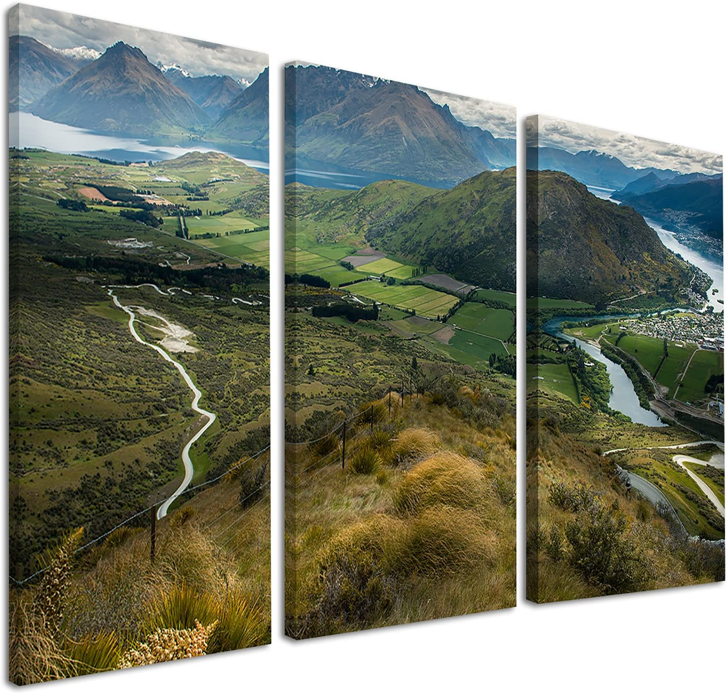 Designart Fields and Hills 5% OFF Arlington Mall in Photo Zealand-Landscape New Canvas