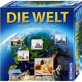 KOSMOS Die Welt Mitbringspiel Wissensspiel Geografie Spiel ab 10 Jahren 711184