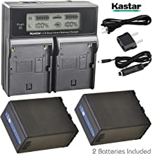 Kastar LCD Dual Fast Charger + BP-U68 Multifunctional Battery x2 for Sony BP-U60 BP-U65 BP-U90 BP-U30 PMW-200 PMW-300 PMW-EX1 PMW-EX3 PMW-EX1R PMW-F3 PXW-FS5 PXW-FS7 PMW-EX160 PMW-EX260 PMW-EX280