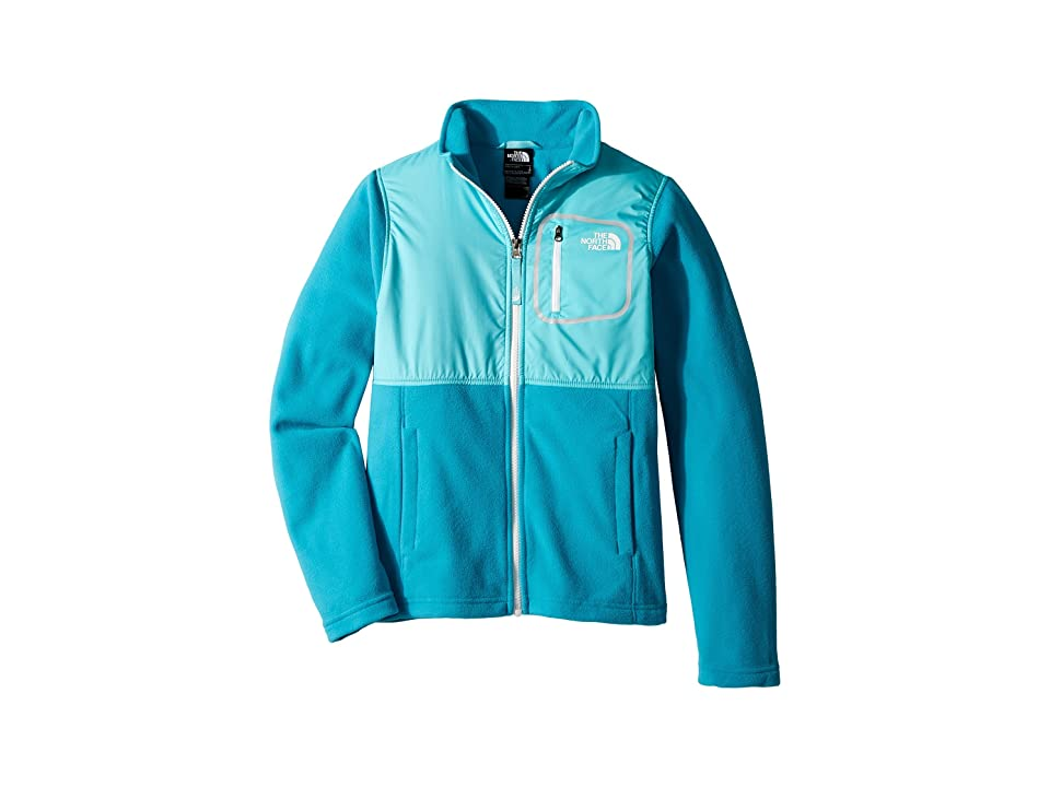 The North Face Kids Glacier Track Jacket (Little Kids/Big Kids) (Algiers Blue/Blue Curacao/TNF White) Girl
