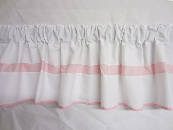 Baby Doll Bedding Modern Hotel Style Window Valance Pink