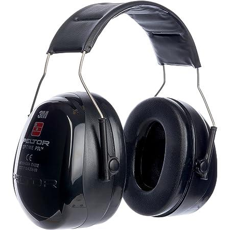 Peltor, Cuffie antirumore, Nero (schwarz) - 3M Peltor(TM) Optime Push to Listen (PTL)