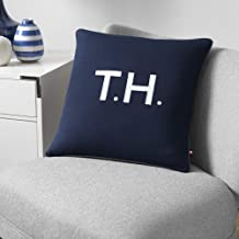 Tommy Hilfiger Initial Decorative Pillow, 18x18 inch, Navy
