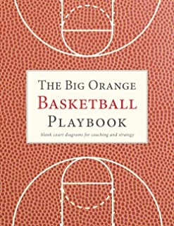 The Big Orange Basketball Playbook: blank court diagrams for coaching and strategy (The Big Blank Sports Strategy and Play...