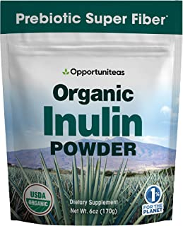 Organic Inulin Powder - Prebiotic Super Fiber Made from 100% Organic Blue Weber Agave - Alternative Sweetener That Support...