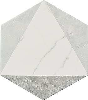 SomerTile FEQCRXPK Murmur Carrara Hexagon Porcelain Floor & Wall Tile, 7
