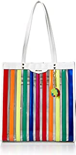 Betsey Johnson Spotted in Stripes Large Tote