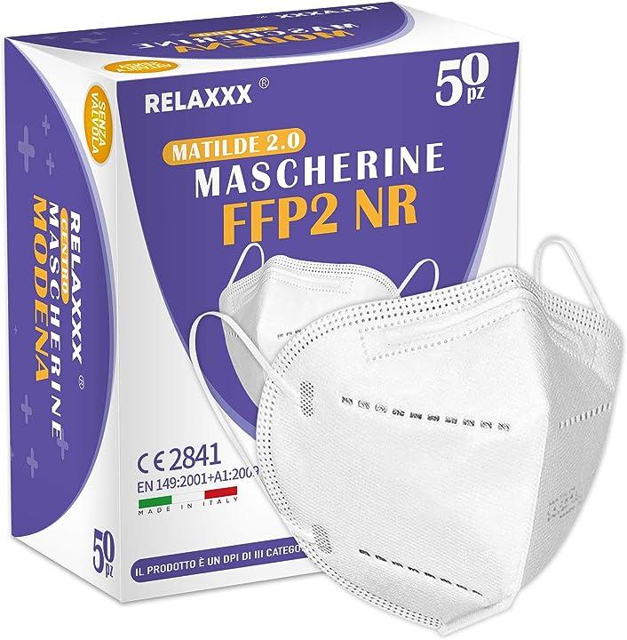 Mascherine ffp2 certificate efficienza di filtraggio 95% - 50 pezzi relaxxx B08TTLG6K4
