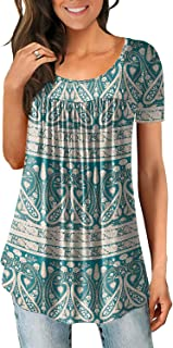 Women's Casual Comfort Tunic Loose Fitting Short Sleeve...