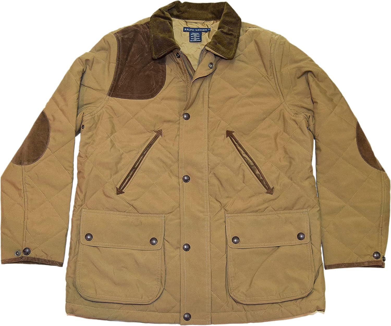 Ralph Lauren Polo Womens Quilted Zip Jacket Coat Brown Khaki Beige Tan XS $395