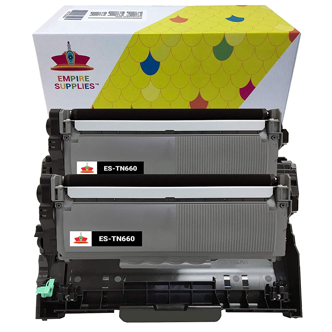 Empire Supplies (2 Toner + 1Drum) Compatible TN660 2PK TN660 BK Black Toner Cartridge and DR630 Drum Unit for Brother use with Brother HL-L2300D HL-L2360DW HL-L2340DW HL-L2365DW DCP-L2540DW sbd58885170